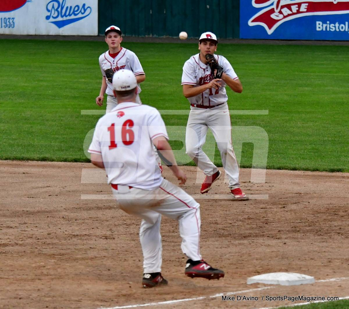 06-04 CIAC T. BASE, SF's; #1 Wolcott 3 vs. #5 Woodland 2 - Photo # 1116