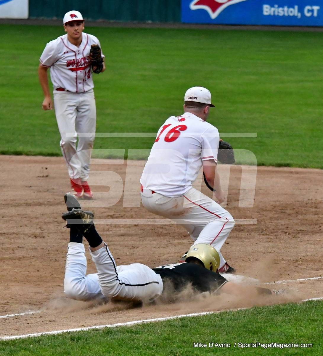 06-04 CIAC T. BASE, SF's; #1 Wolcott 3 vs. #5 Woodland 2 - Photo # 1120