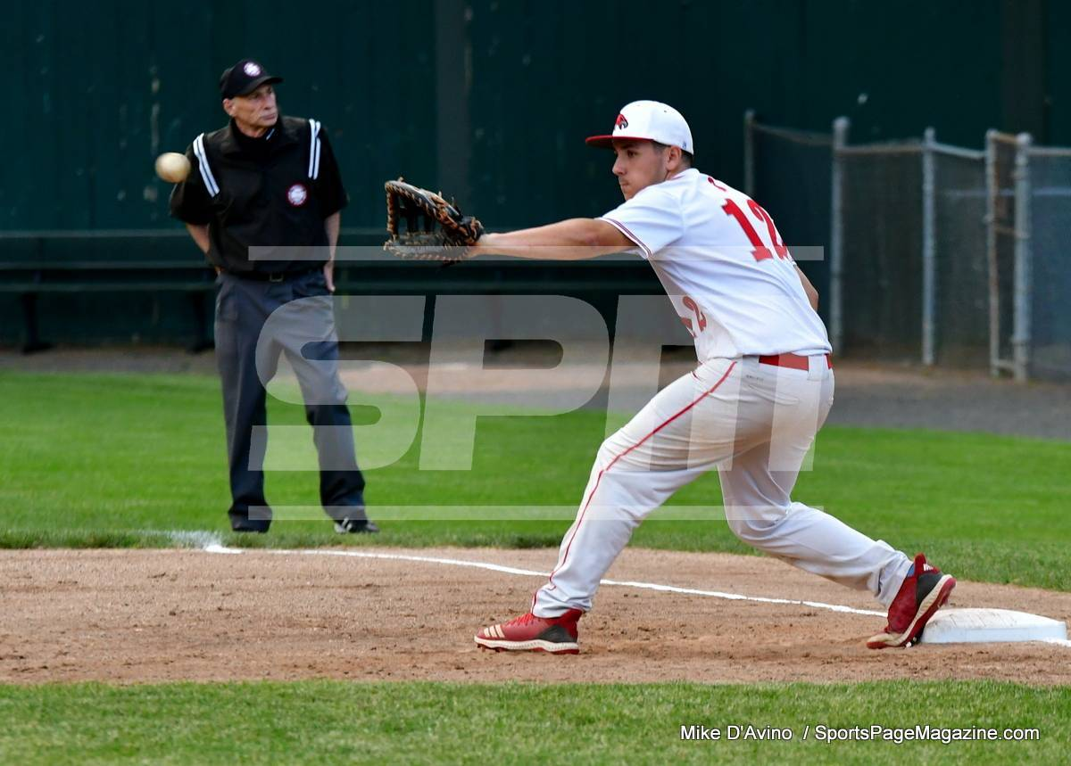 06-04 CIAC T. BASE, SF's; #1 Wolcott 3 vs. #5 Woodland 2 - Photo # 619
