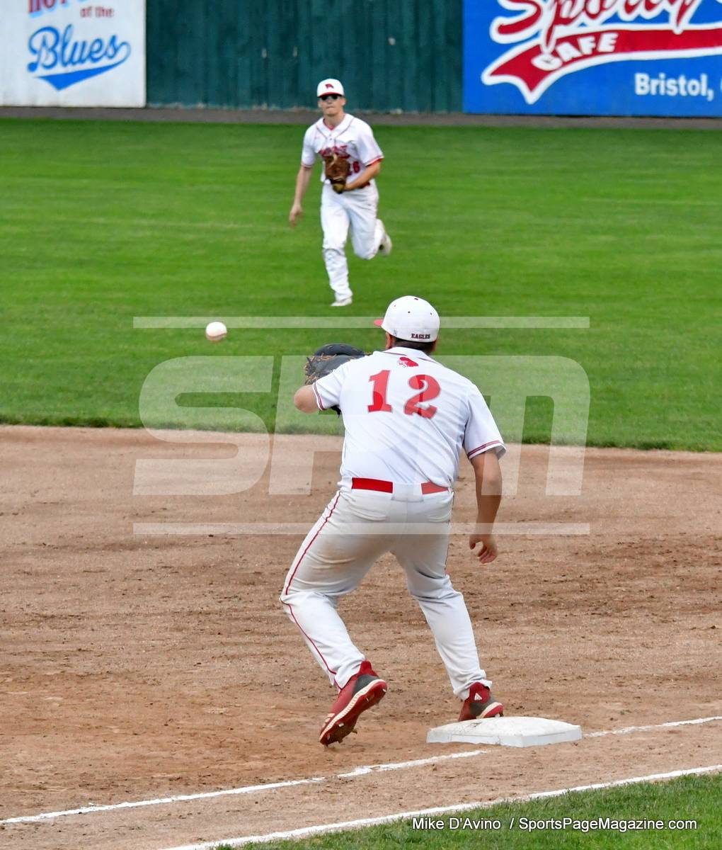 06-04 CIAC T. BASE, SF's; #1 Wolcott 3 vs. #5 Woodland 2 - Photo # 947