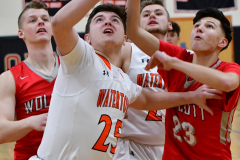 CIAC Boys Basketball; Watertown 63 vs. Wolcott 73 - Photo # 164