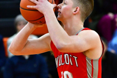 CIAC Boys Basketball; Watertown 63 vs. Wolcott 73 - Photo # 189
