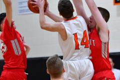 CIAC Boys Basketball; Watertown 63 vs. Wolcott 73 - Photo # 202