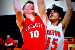 CIAC Boys Basketball; Watertown 63 vs. Wolcott 73 - Photo # 323