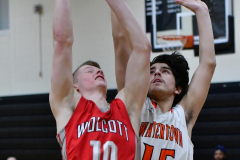 CIAC Boys Basketball; Watertown 63 vs. Wolcott 73 - Photo # 324