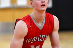 CIAC Boys Basketball; Watertown 63 vs. Wolcott 73 - Photo # 328
