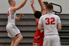 CIAC Boys Basketball; Wolcott 47 vs. Greenwich 76 - Photo # 197