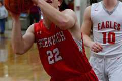 CIAC Boys Basketball; Wolcott 47 vs. Greenwich 76 - Photo # 203