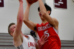 CIAC Boys Basketball; Wolcott 47 vs. Greenwich 76 - Photo # 335