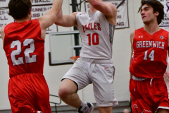 CIAC Boys Basketball; Wolcott 47 vs. Greenwich 76 - Photo # 515
