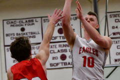 CIAC Boys Basketball; Wolcott 47 vs. Greenwich 76 - Photo # 516