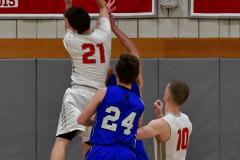 CIAC Boys Basketball; Wolcott 69 vs. East Hampton 63 - Photo # 1028