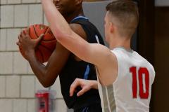 CIAC Boys Basketball; Wolcott 81 vs. Oxford 74 - Photo # 466