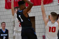 CIAC Boys Basketball; Wolcott 81 vs. Oxford 74 - Photo # 476