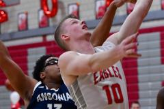 CIAC Boys Basketball; Wolcott vs. Ansonia - Photo # (458)