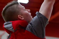 CIAC Boys Basketball; Wolcott vs. Ansonia, Pregame - Photo # (148)