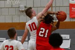 Gallery CIAC Boys Basketball; Wolcott vs. Derby - Photo # 482