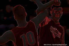 CIAC Boys Basketball; Watertown 63 vs. Wolcott 73 - Photo # 093