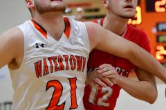 CIAC Boys Basketball; Watertown 63 vs. Wolcott 73 - Photo # 262