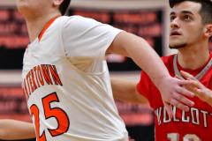 CIAC Boys Basketball; Watertown 63 vs. Wolcott 73 - Photo # 530