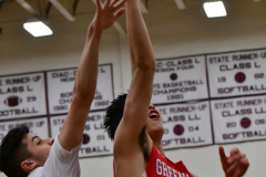 CIAC Boys Basketball; Wolcott 47 vs. Greenwich 76 - Photo # 308