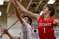 CIAC Boys Basketball; Wolcott 47 vs. Greenwich 76 - Photo # 660