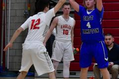 CIAC Boys Basketball; Wolcott 69 vs. East Hampton 63 - Photo # 456