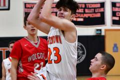 CIAC Boys Basketball; Watertown 63 vs. Wolcott 73 - Photo # 174