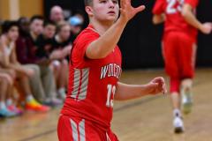CIAC Boys Basketball; Watertown 63 vs. Wolcott 73 - Photo # 183