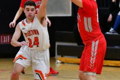 CIAC Boys Basketball; Watertown 63 vs. Wolcott 73 - Photo # 211