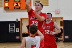 CIAC Boys Basketball; Watertown 63 vs. Wolcott 73 - Photo # 392