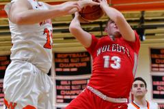 CIAC Boys Basketball; Watertown 63 vs. Wolcott 73 - Photo # 452