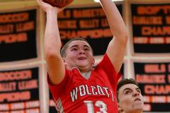 CIAC Boys Basketball; Watertown 63 vs. Wolcott 73 - Photo # 527