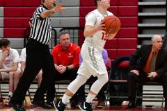 CIAC Boys Basketball; Wolcott 69 vs. East Hampton 63 - Photo # 348