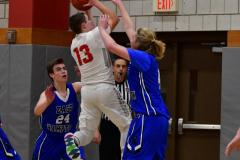 CIAC Boys Basketball; Wolcott 69 vs. East Hampton 63 - Photo # 442