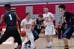 CIAC Boys Basketball; Wolcott 81 vs. Oxford 74 - Photo # 264