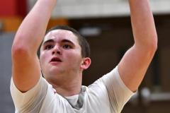 CIAC Boys Basketball; Wolcott 81 vs. Oxford 74 - Photo # 548