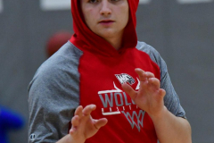 CIAC Boys Basketball; Wolcott vs. Derby, Pregame - Photo # (132)
