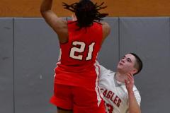 Gallery CIAC Boys Basketball; Wolcott vs. Derby - Photo # 704