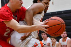 CIAC Boys Basketball; Watertown 63 vs. Wolcott 73 - Photo # 227