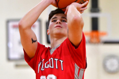 CIAC Boys Basketball; Watertown 63 vs. Wolcott 73 - Photo # 257