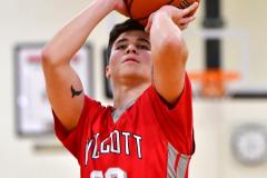 CIAC Boys Basketball; Watertown 63 vs. Wolcott 73 - Photo # 257