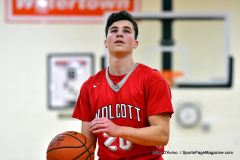 CIAC Boys Basketball; Watertown 63 vs. Wolcott 73 - Photo # 259