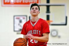CIAC Boys Basketball; Watertown 63 vs. Wolcott 73 - Photo # 259