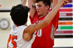CIAC Boys Basketball; Watertown 63 vs. Wolcott 73 - Photo # 266