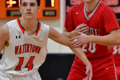 CIAC Boys Basketball; Watertown 63 vs. Wolcott 73 - Photo # 523