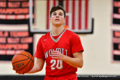 CIAC Boys Basketball; Watertown 63 vs. Wolcott 73 - Photo # 528