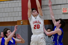 CIAC Boys Basketball; Wolcott 69 vs. East Hampton 63 - Photo # 992