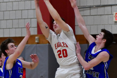 CIAC Boys Basketball; Wolcott 69 vs. East Hampton 63 - Photo # 993