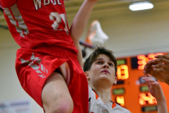 CIAC Boys Basketball; Watertown 63 vs. Wolcott 73 - Photo # 246